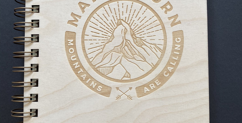 SWISS WOOD BOOK - MATTERHORN CALLING