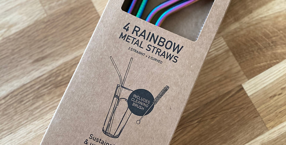 4 - RAINBOW METAL STRAWS