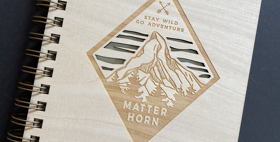 SWISS WOOD BOOK - MATTERHORN STAY WILD