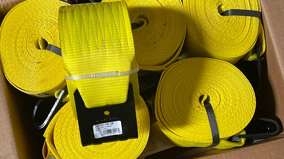 """4""""x 27' 5400lb Straps with Flat Hook"""