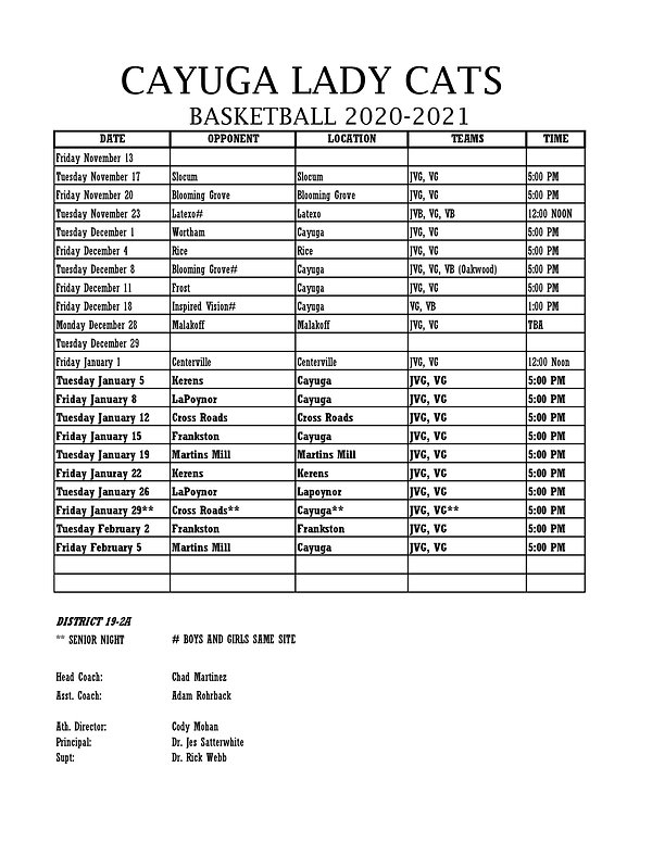 2020-2021 BASKETBALL SCHEDULE GIRLS-page