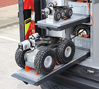 Dual Pull-Out Trays For Crawler Storage