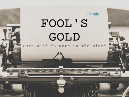 """Fool's Gold (Part 2 of """"A Word To The Wise"""")"""