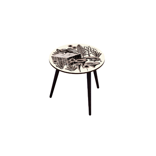 TABLE BOCAGE BELETTE SEPIA M