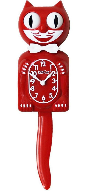 KIT-CAT CLOCK ROUGE
