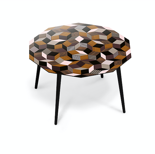 TABLE A DINER FANCY WOOD Giant XLarge