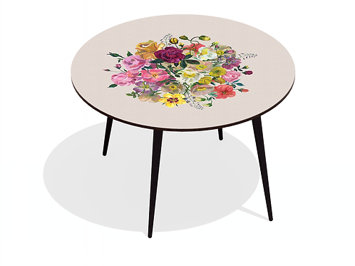 TABLE DINER ROYAL BOUQUET BEIGE