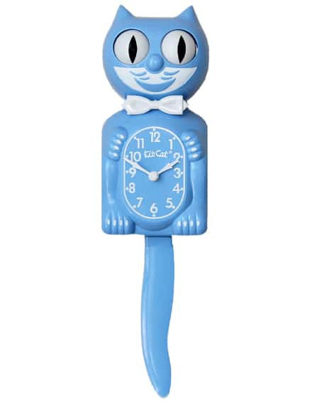 KIT-CAT CLOCK BLEUE
