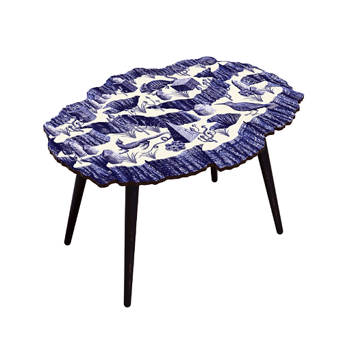TABLE CANYON CRISTAL INDIGO XXL