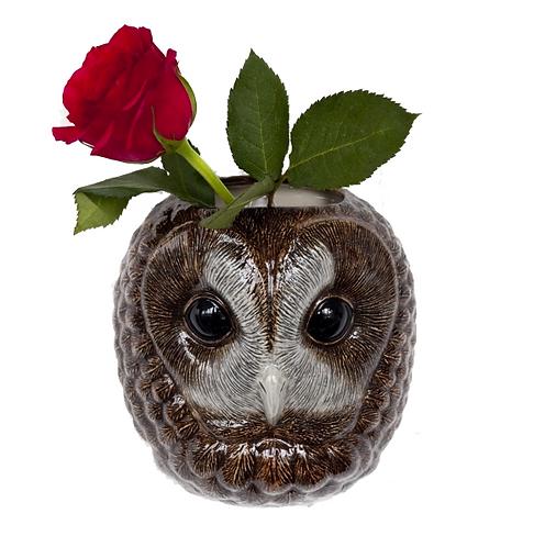 VASE MURAL TAWNY OWL