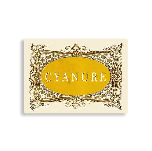 PLANCHETTE CYANURE