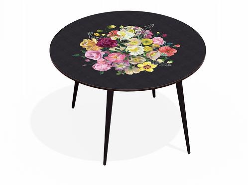 TABLE DINER ROYAL BOUQUET NOIR