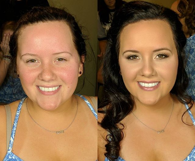 Another gorgeous bridesmaid before and after!! ._._
