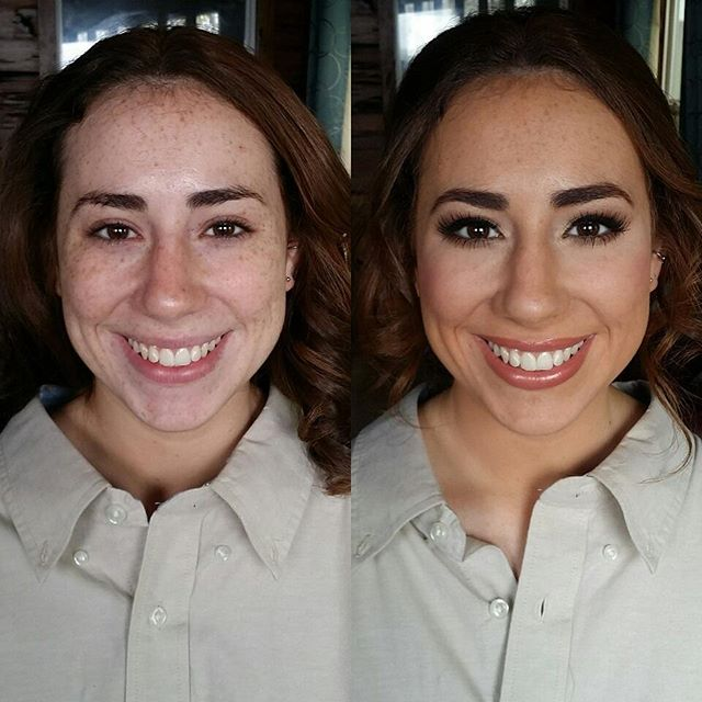 Before and after of one of the pretty bridesmaids from today's wedding! She wanted to keep some of h