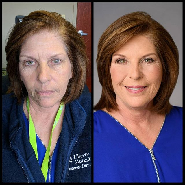Before and after! Makeup for work portfolio! _#beforeandafter #before #after #makeupbypaigeb #makeup