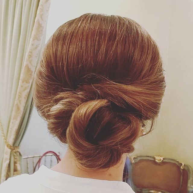 Simple and elegant bridesmaid hair! #hairbypaigeb #simple #elegant #bridesmaidhair #updo #bun