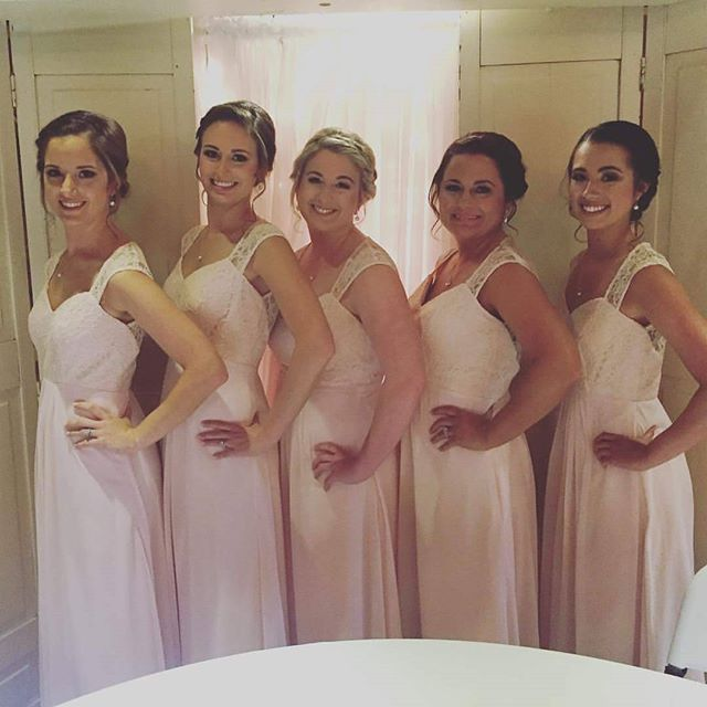 My beautiful bridal party from yesterday!_._._