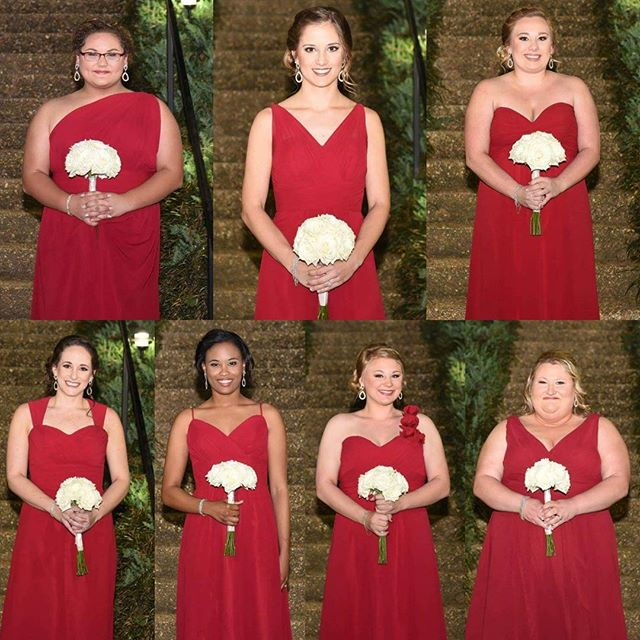 Look how beautiful and classic this bridal party was! All hair and makeup by me! #hairbypaigeb #make