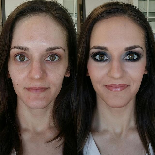 She is absolutely gorgeous! Before and after a smokey eye look!