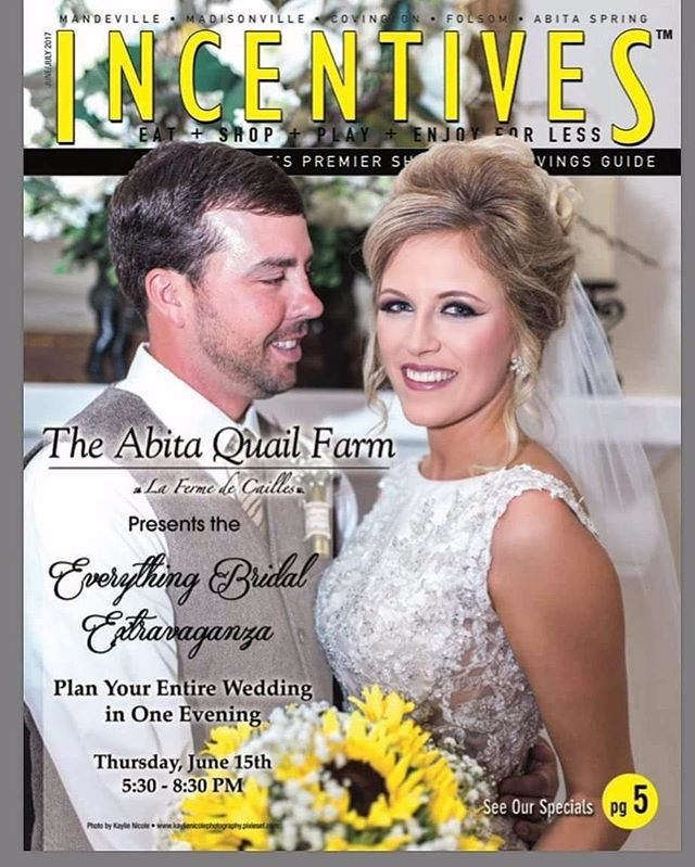 When one of your brides makes the cover of a magazine! No big deal!! That's makeup and hair by me y'