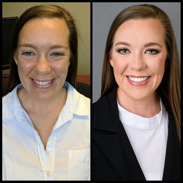 Another beautiful before and after! Headshot for work portfolio!! #beforeandafter #before #after #ma