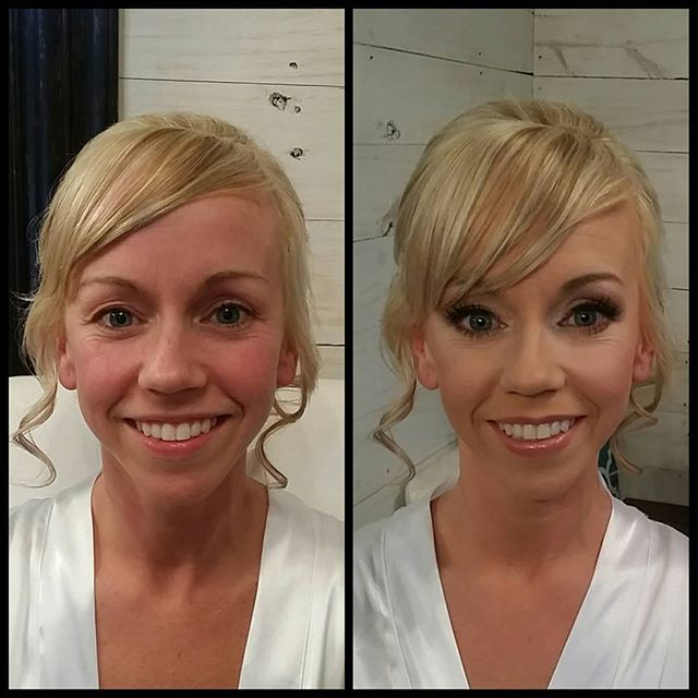 Bridal makeup before and after!! #makeupbypaigeb #makeup #beforeandafter #justmakeup #didntdoherhair
