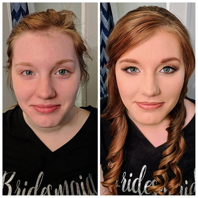 Bridesmaid before and after!