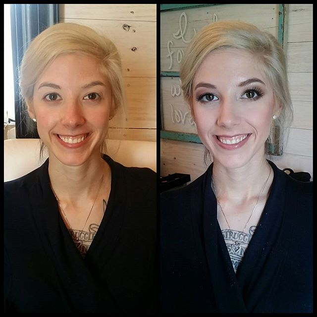 Bridesmaid makeup before and after! #makeupbypaigeb #makeup #beforeandafter #justmakeup #didntdoherh