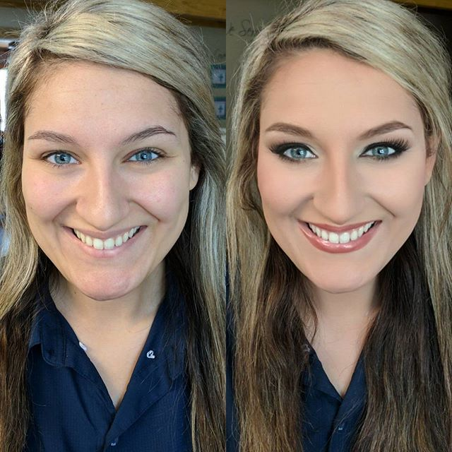 Before and after bridal makeup! ._._._
