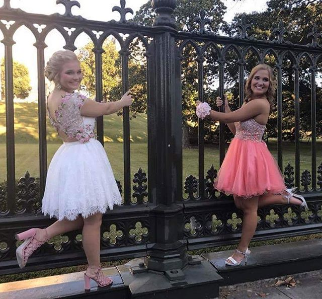 Two of my beauties from Denhams Homecoming!! #hairbypaigeb #makeupbypaigeb #makeup #hair #updo #half