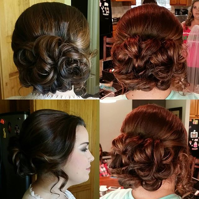 Bridal portraits hair and wedding day hair!! #hairbypaigeb #hair