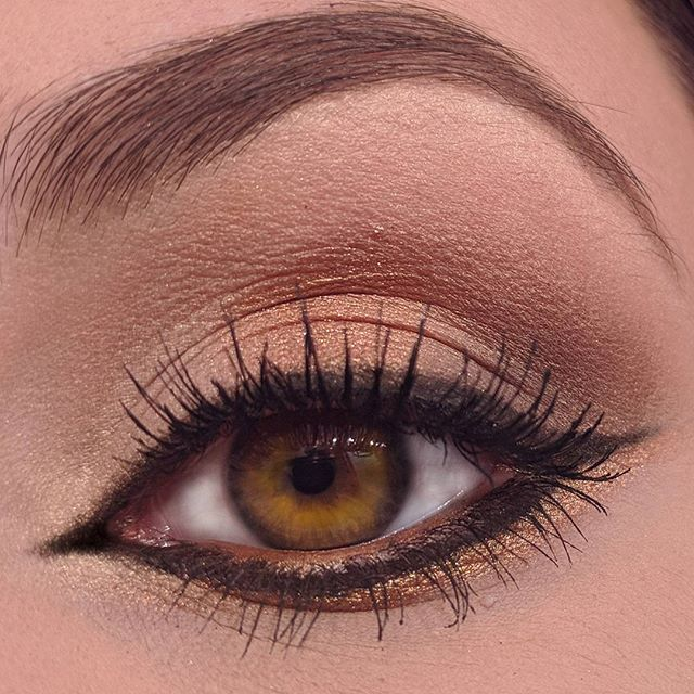 Holiday party eye makeup! _theperfectface bronze gold pigment was a must for this look!! ._._