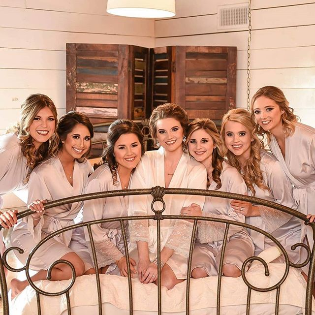 Talk about a gorgeous bridal party!! Hair and makeup by us! As always a great shot by Brittany Dufre