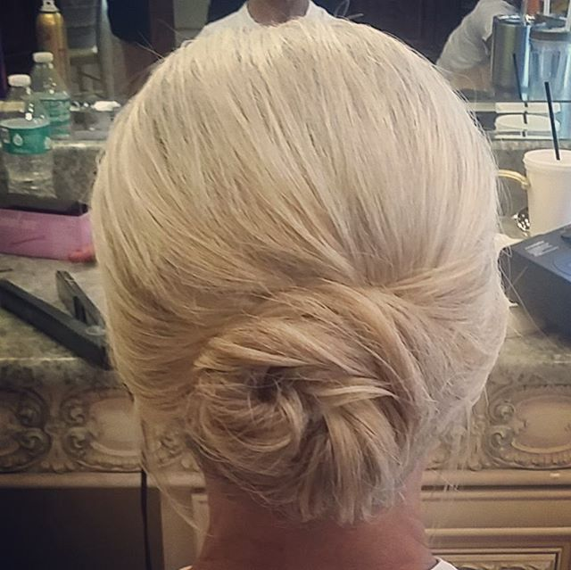 Simple and elegant mother of the bride hair! #hairbypaigeb #simple #elegant #motherofthebride #updo