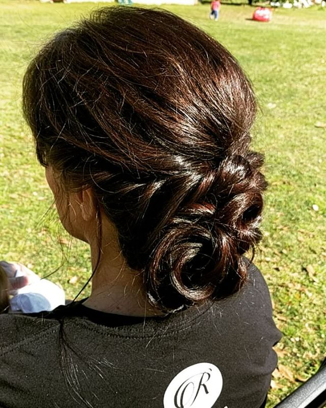 Playing around with my momma's hair while we watch the kids play outside!! #hairbypaigeb #hair #updo