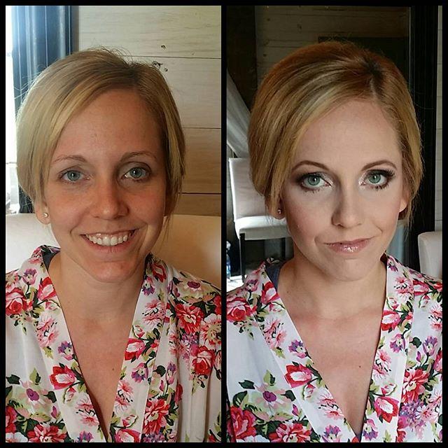 Bridesmaid makeup before and after! #makeupbypaigeb #makeup #beforeandafter #justmakeup #didntdoherh