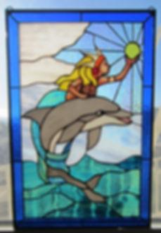 Mermaid & Dolphin -  illuminated