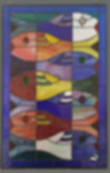 Abstract Fish - unlit glass