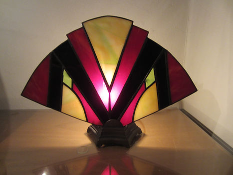 Art Deco Fan Accent Lamp.JPG
