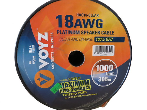 METRO CABLE PARA BOCINA #18 CLARO HA018-CLEAR <VOYZ>