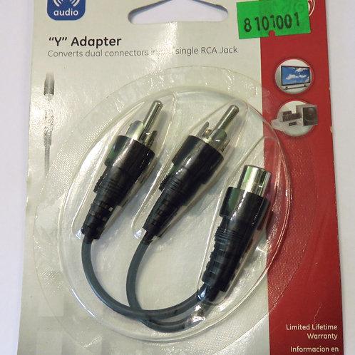ADAPTADOR Y DE 1 JACK RCA A 2 PLUGS RCA 72652 <GENERAL ELECTRIC>