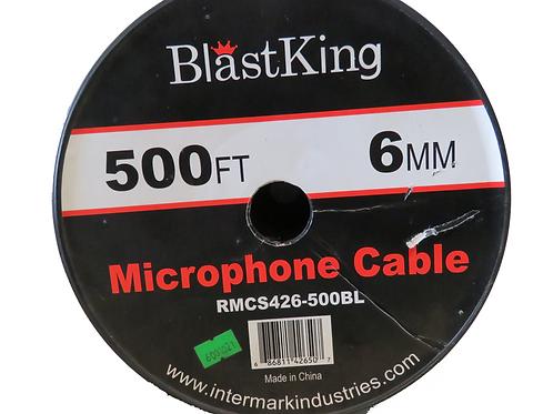 METRO CABLE PARA MICROFONO 3X6MM AZUL RMCS426-500BL <BLASTKING>