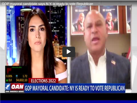 """OAN interview with Fernando Mateo on, """"Why NYC is Ready to Vote Republican"""""""