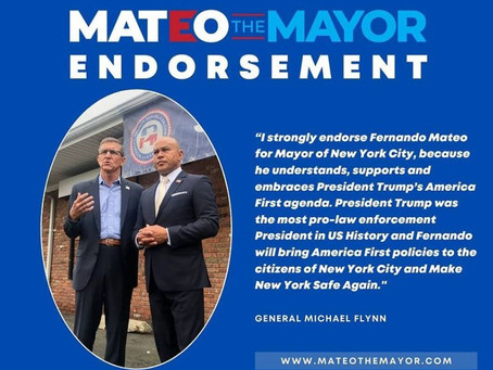 Ex-Trump adviser Michael Flynn endorses Fernando Mateo for mayor
