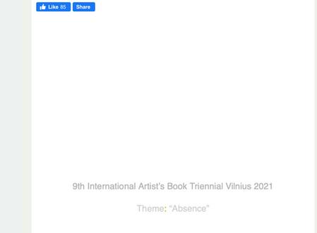 9th Triennial of Artists Books Vilnius, Lithuania