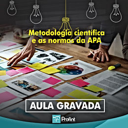 Mini curso on-line: Metodologia científica e as normas da APA