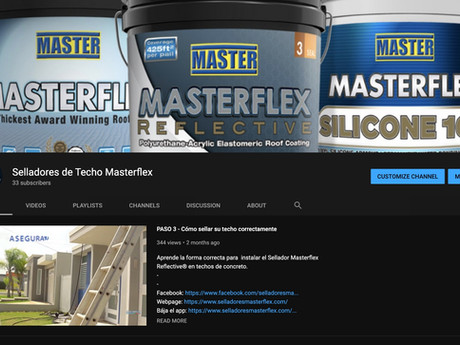 MASTERFLEX® reproduce en Youtube