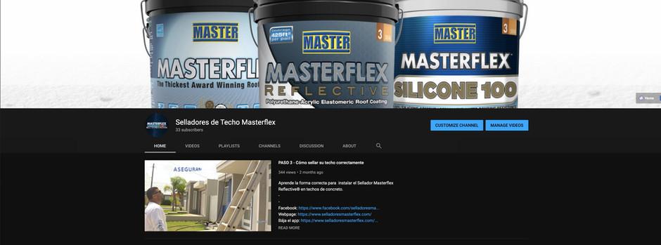 MASTERFLEX® reproduce en Youtube