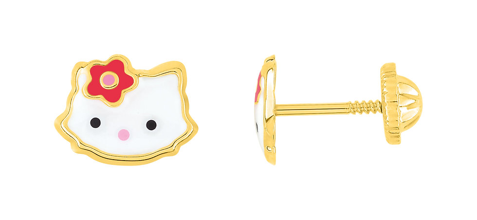 BOUCLES D'OREILLES CHATS KITTY