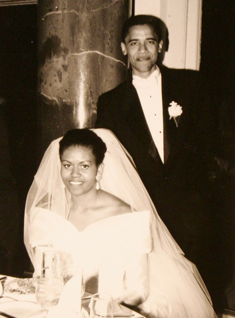 Our most famous wedding couple The Obamas